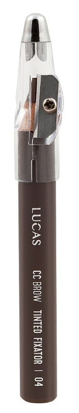 LUCAS' COSMETICS Карандаш восковый для бровей, 04 светло-коричневый / CC Brow Tinted Wax Fixator