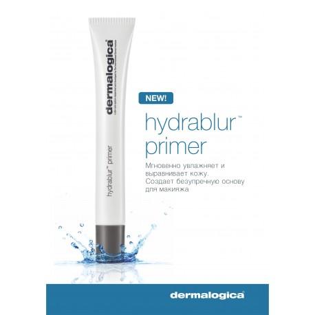 DERMALOGICA Праймер увлажняющий / HydraBlurTM Primer 22млОсобые средства<br>Dermalogica  представляет новый HydraBlurTM Primer/ Увлажняющий праймер, объединяющий мощные высокотехнологичные ингредиенты для ухода за кожей и самые элегантные и современные компоненты, используемые при создании праймеров. Этот многофункциональный продукт улучшает состояние кожи, обеспечивает непревзойденное выравнивание поверхности, создает безупречную основу для макияжа или эффект естественного сияния кожи без макияжа. Легкая нежирная текстура HydraBlurTM Primer /Увлажняющего праймера идеально подходит для всех типов и состояний кожи, особенно при выраженной сухости и обезвоженности. Комбинация активных ингредиентов обеспечивает интенсивное пролонгированное увлажнение и контролирует трансэпидермальную потерю влаги, поддерживая необходимый уровень увлажненности кожи в течение дня и уменьшая выраженность поверхностных морщин и линий обезвоженности. Уникальная технология микроинкапсуляции позволяет обеспечить высвобождение тонирующих частиц во время нанесения, придавая естественное сияние и легкий тон, подходящий для всех оттенков кожи. HydraBlurTM Primer уменьшает выраженность пор, контролирует жирный блеск, не пересушивая кожу, и создает матовое шелковистое покрытие. Активные ингредиенты: Комплекс H2O Release , содержащий Гиалуронат натрия, Альгин и Трегалозу, оптимизирует баланс влаги, обеспечивает интенсивное пролонгированное увлажнение в течение дня для улучшения тургора и разглаживания поверхности кожи. Абиссинское масло смягчает кожу, создавая на поверхности неокклюзивное покрытие, способствующее поддержанию баланса влаги и не вызывающее закупорки пор. Матирующие частицы уменьшают жирный блеск, выраженность линий обезвоженности и других несовершенств кожи, создавая эффект  мягкого фокуса . Экстракт Лиственничной губки (Fomes Officinalis ) уменьшает выраженность пор. Экстракт Эводии рутоплодной (Evodia Rutaecarpa) улучшает микроциркуляцию и способствует появлению естественного сияния