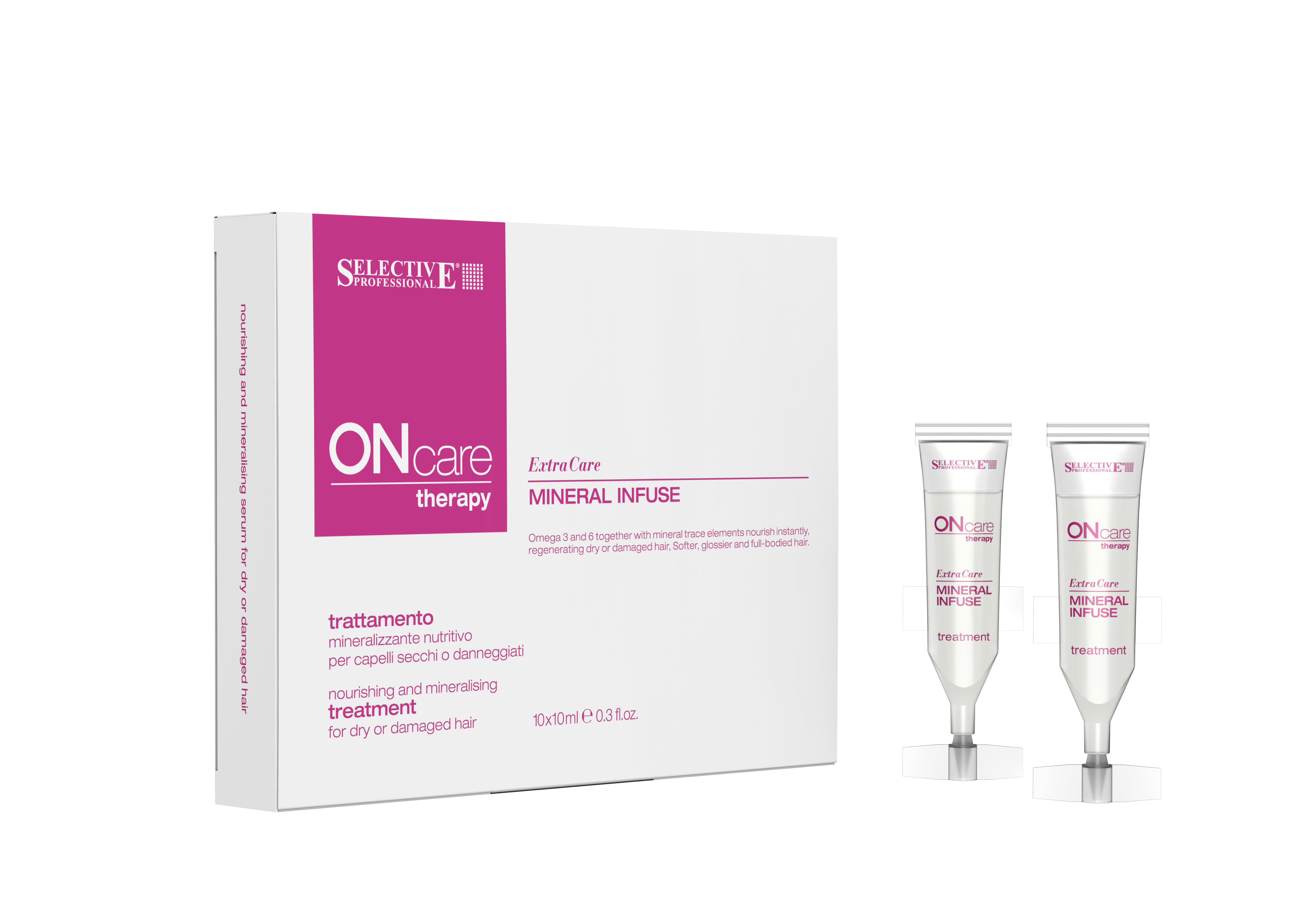 SELECTIVE PROFESSIONAL Сыворотка питательная для волос / On Care Therapy Mineral Infuse 10 х 10 мл фото