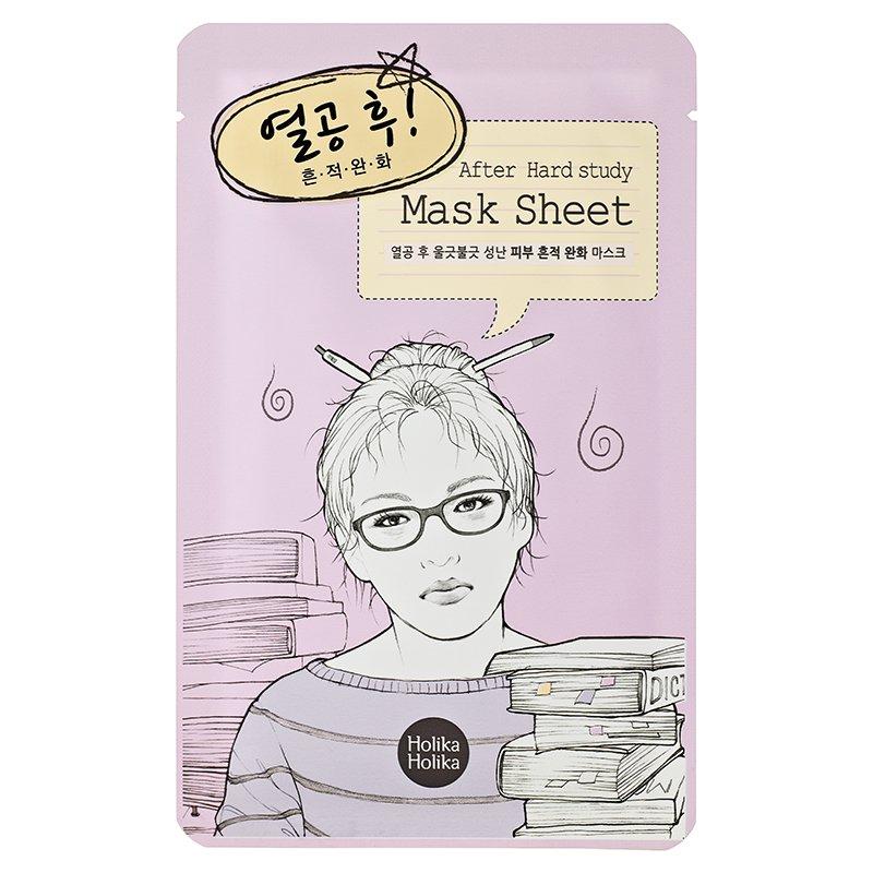 "HOLIKA HOLIKA Маска тканевая для лица ""После учебы"" / After Mask Sheet - After Hard Study 1шт"