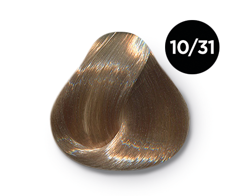 OLLIN PROFESSIONAL 10/31 краска для волос, светлый блондин золотисто-пепельный / OLLIN COLOR 60 мл