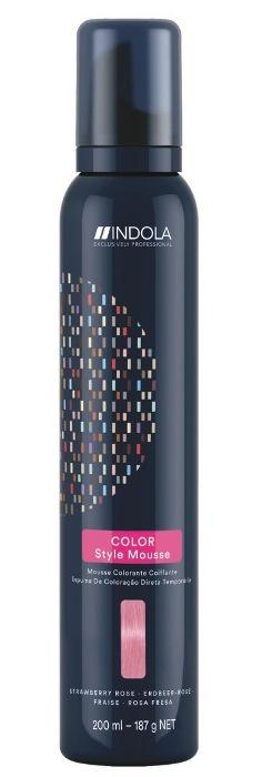 Купить INDOLA Мусс оттеночный для укладки волос, клубничная роза / Color Style Mousse 200 мл, Розовый
