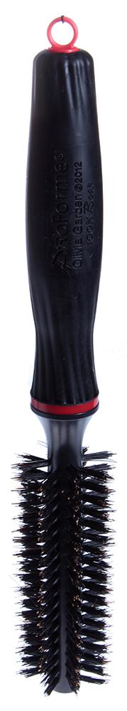 OLIVIA GARDEN Брашинг Pro Form нат.щет 12мм / Olivia GardenБрашинги<br>Совершенно новый эргономичный дизайн ручки, прекрасно сбалансирован для уменьшения усталости запястья. Уникальная щетина из кабана с ионной технологией и антистатическим покрытием идеально подходит для выпрямления волос. Лучшая щетка для укладки волос. Неограниченный поток воздуха позволяет придавать необходимый эффект прическе. Выдвижной хвостик для пробора прядей. Длина: 23см (без выдвижного хвостика). Диаметр сердечника: 1.2см. Внешний диаметр щетки: 3.8см. Количество рядов: 8. Высота щетины: 1.3см. Диаметр: 12мм.<br>