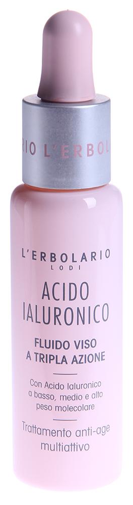LERBOLARIO Гель с гиалуроновой кислотой, увлажняющий, тонизирующий и разглаживающий кожу лица 28 млГели<br>Гидрофильная молекула гиалуроновой кислоты обладает поразительным свойством удерживать вокруг себя количество воды, в тысячу раз большее ее собственного веса. Присутствие в косметических средствах гиалуроновой кислоты с тремя различными молекулярными весами обеспечивает коже высокую степень увлажнения, упругость и гладкость. Кроме этого, гиалуроновая кислота эффективно сдерживает процесс потери кожей влаги, а также стимулирует производство коллагена, &amp;laquo;протеина молодости&amp;raquo;, который стоит на страже эластичности и плотности эпидермиса, помогает сохранить тургор, присущий молодости.Кожа лица, глубоко увлажненная, гладкая и упругая, будет защищена от обезвоживания и, как следствие, от появления морщин и мимических складок.  Способ применения: Утром и вечером нанесите на хорошо очищенную кожу лица несколько капель геля. Кожа мгновенно станет более мягкой и свежей, приобретет тонус и сияние. После нанесения геля рекомендуется всегда применять крем с гиалуроновой кислотой. Комплексное антивозрастное воздействие средств этой серии будет еще более эффективным.<br><br>Возраст применения: После 25<br>Назначение: Морщины