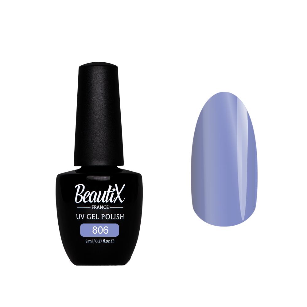 Купить BEAUTIX 806 гель лак для ногтей 8 мл, Фиолетовые