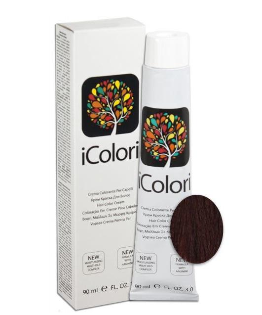 Kaypro 5.66 краска для волос, интенсивный светлый красновато-коричневый / icolori 90 мл