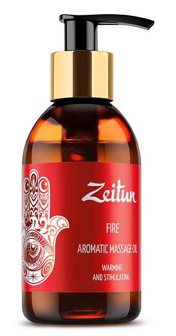 ZEITUN Масло ароматическое массажное Огонь (имбирь, корица, апельсин) 100 мл фото