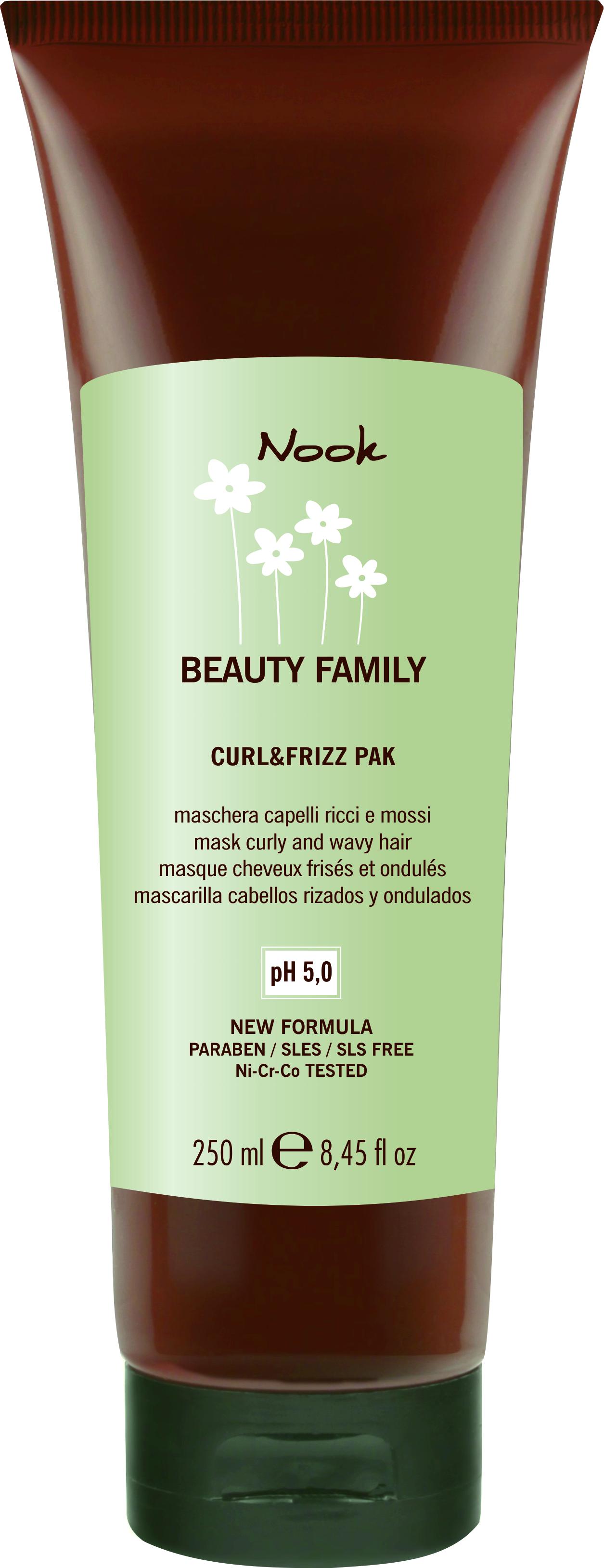 NOOK Маска для кудрявых волос Ph 5,0 / Curl  Friz Pak BEAUTY FAMILY 250 мл
