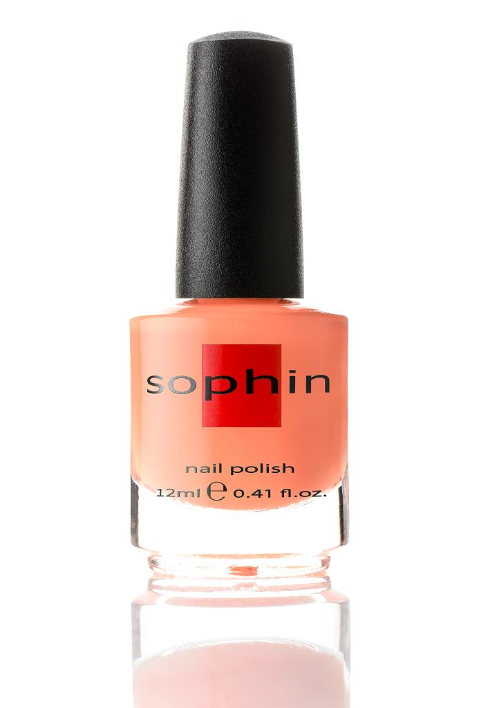 SOPHIN Лак для ногтей, оранжевый крем 12мл