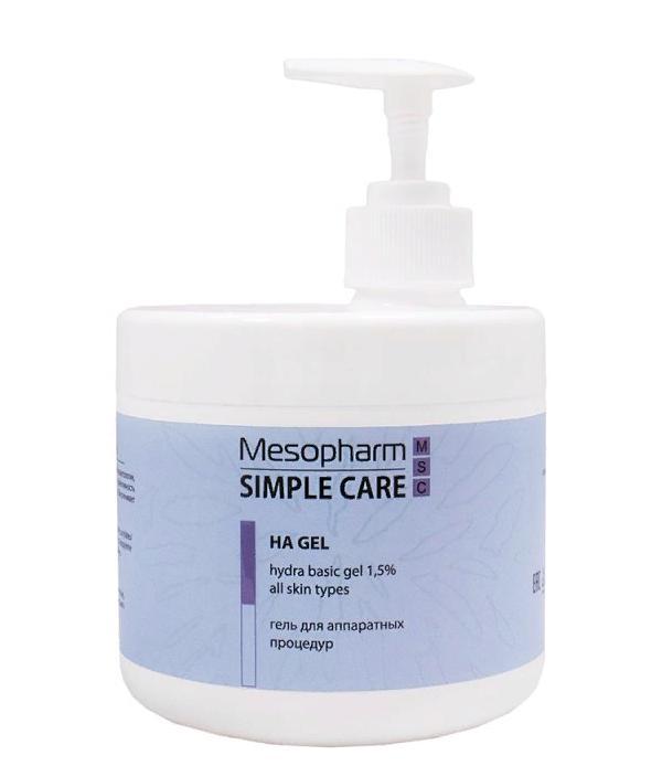 MESOPHARM SIMPLE CARE Гель для аппаратных процедур для лица / HA GEL500 мл