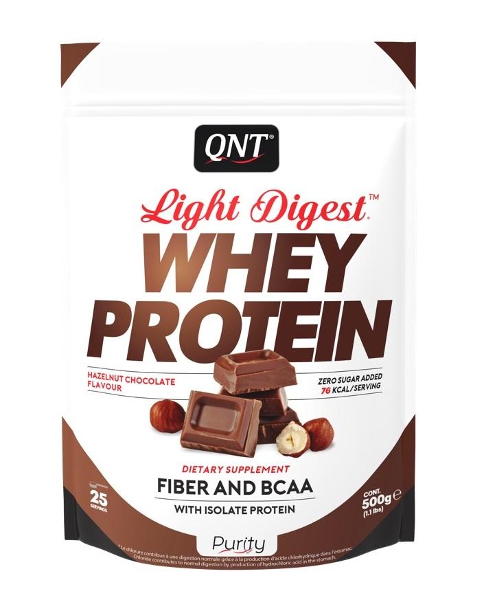 Купить QNT Добавка биологически активная к пище Лайт дайджест вей протеин, шоколад-лесной орех / LIGHT DIGEST WHEY PROTEIN Hazelnut Chocolate 500 г