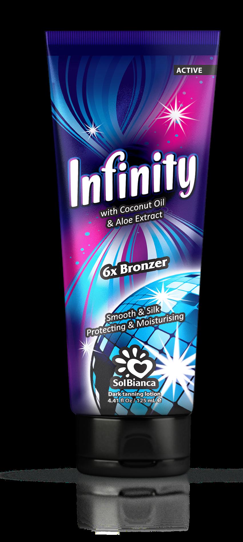 SOLBIANCA Крем для загара в солярии  Infinity  с маслом кокоса, экстрактом алоэ и бронзаторами 125 мл