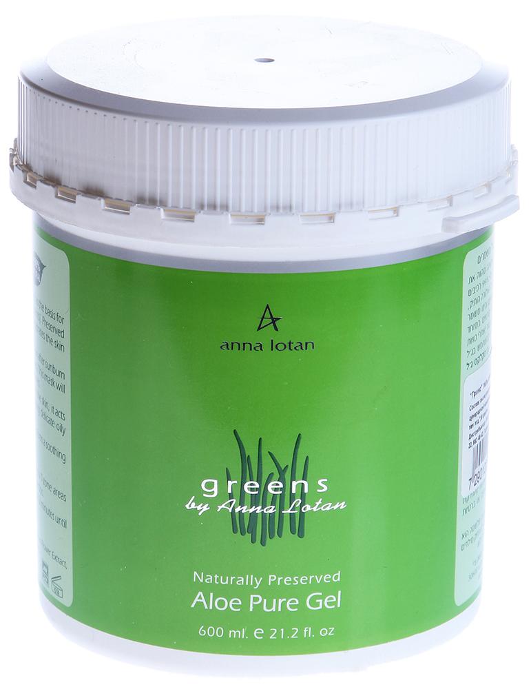 "ANNA LOTAN ���� ����-���� ��� ������������ ""�����"" / Aloe Pure Natural Gel GREENS 600��"