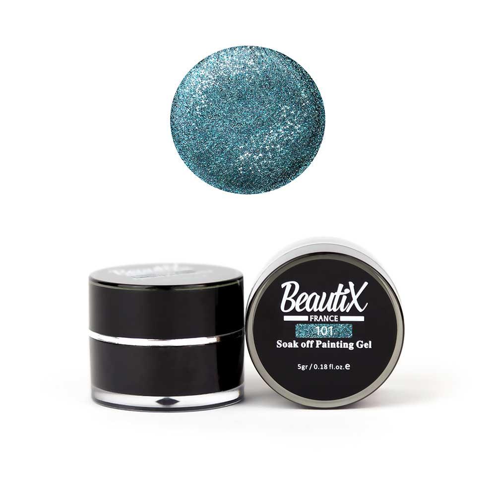 Купить BEAUTIX Глиттер мелкозернистый, 101 голубой / Gel Painting Glitz 5 г
