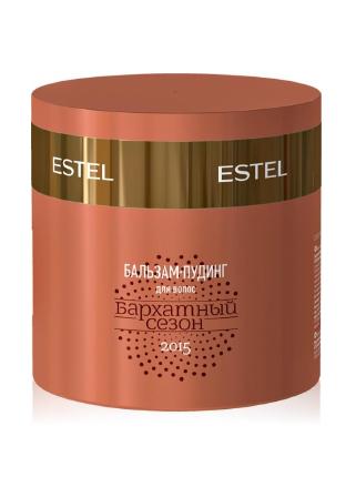 ESTEL PROFESSIONAL Бальзам-пудинг Бархатный сезон 300млБальзамы<br>Estel Professional Бархатный сезон Бальзам-пудинг для волос 300 мл. Сезонный десерт для ваших волос от лаборатории ESTEL - Дарит волосам красоту и здоровье - Смягчает и защищает волосы по всей длине - Увлажняет и придает шелковистость волосам - Легкая консистенция пудинга помогает лучшему распределению бальзама по всей длине волос<br><br>Объем: 300 мл