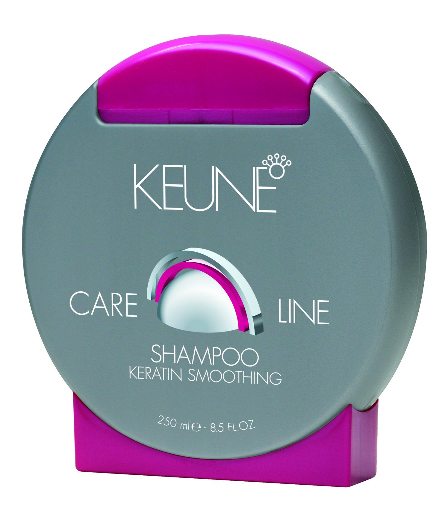 KEUNE Шампунь Кэе Лайн Кератиновый комплекс / CL KERATIN SMOOTHING SHAMPOO 250млШампуни<br>Разглаживающий и укрепляющий шампунь. Содержит кератин и провитамин B5, которые питают и увлажняют волосы, придают блеск. Quat Complex защищает от механических повреждений. Активные ингредиенты: кератин, провитамин В5, Quat Complex. Способ применения: нанесите необходимое количество увлажняющего шампуня на влажные волосы, вспеньте, помассируйте в течение 1-2 минут, после чего тщательно смойте водой.<br><br>Объем: 250<br>Типы волос: Для всех типов