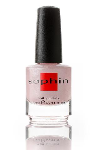 SOPHIN Лак для ногтей, нежный бело-розовый с содержанием большого количества серебристого шиммера 12мл