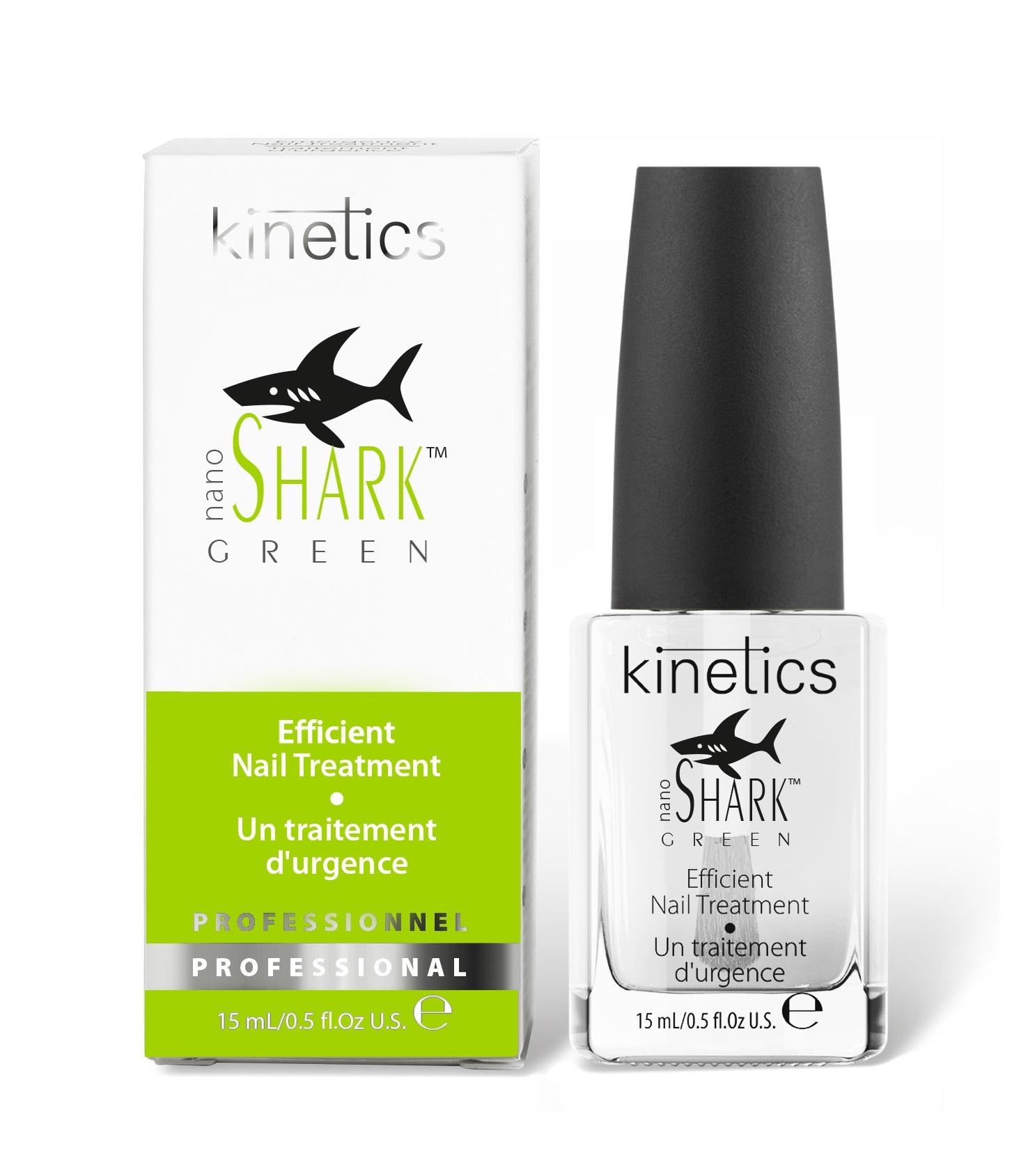 KINETICS Средство эффективное терапевтическое для поврежденных и слабых ногтей / Nano Green Shark, 15 мл