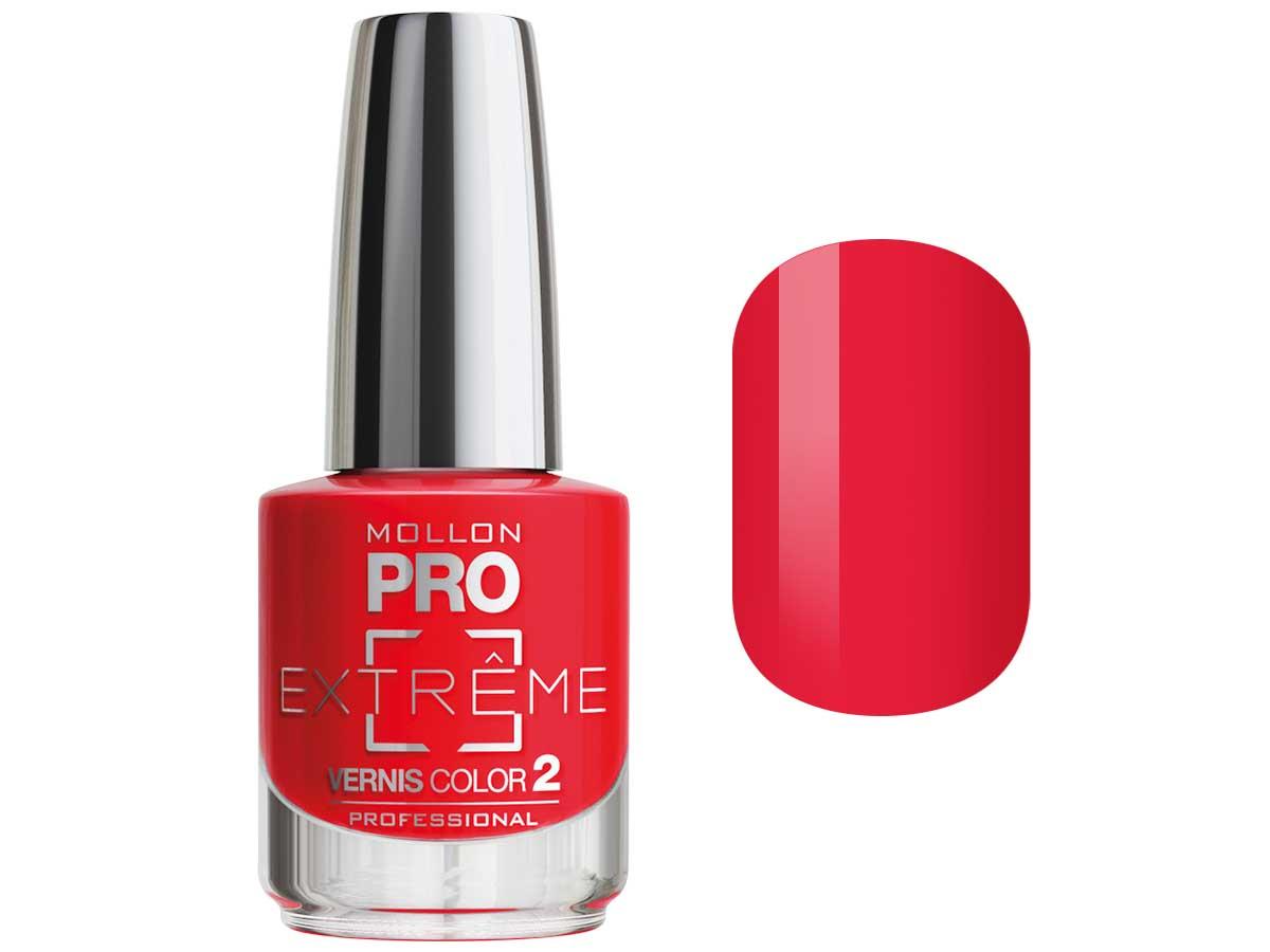 MOLLON PRO Покрытие для ногтей цветное / Extreme Vernis Color  18 10млЛаки<br>Mollon PRO EXTREME 3 STEPS VERNIS   это инновационная, трехфазная система для стилизации ногтей. Благодаря формуле, обогащенной полимерами, продукты высыхают при естественном освещении, что позволяет сохранить эффект супер блеска на ногтях до 10 дней. Продукты наносятся как классический лак для ногтей, смываются жидкостью для снятия лака с ацетоном без компресса. EXTREME VERNIS COLOR COAT 2 - основной цвет очень гибкий, быстро сохнет и дает интенсивный цвет уже после первого цветного слоя. Способ нанесения: - Сделайте маникюр и обезжирьте ногтевую пластину. - Нанесите базу Mollon PRO Extreme Base Smooth Coat -1, дайте просохнуть 1 минуту. - Нанесите два слоя цветного лака Mollon PRO Extreme -2, интервал между слоями 2 минуты. - Покройте сверху закрепителем Mollon PRO Extreme Gloss Top Coat -3. - Оставьте на 10 минут для высыхания. Для снятия покрытия используйте жидкость для снятия лака.<br><br>Цвет: Красные<br>Класс косметики: Профессиональная<br>Виды лака: Глянцевые