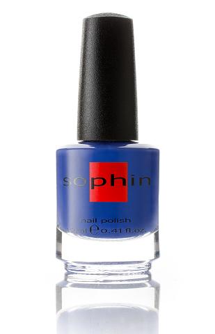 SOPHIN Лак для ногтей, насыщенный синий 12млЛаки<br>Коллекция лаков SOPHIN очень разнообразна и соответствует современным веяньям моды. Огромное количество цветов и оттенков дает возможность создать законченный образ на любой вкус. Удобный колпачок не скользит в руках, что облегчает и позволяет контролировать процесс нанесения лака. Флакон очень эргономичен, лак легко стекает по стенкам сосуда во внутреннюю чашу, что позволяет расходовать его полностью. И что самое главное - форма флакона позволяет сохранять однородность лаков с блестками, глиттером, перламутром. Кисть средней жесткости из натурального волоса обеспечивает легкое, ровное и гладкое нанесение. Быстро высыхает&amp;nbsp; Превосходно наносится&amp;nbsp; Долго держится&amp;nbsp; Создаёт глубокое блестящее покрытие&amp;nbsp; Легко применяется и удаляется Big5free Активные ингредиенты. Состав: ethyl acetate, butyl acetate, nitrocellulose, acetyl tributyl citrate, isopropyl alcohol, adipic acid/neopentyl glycol/trimellitic anhydride copolymer, stearalkonium bentonite, n-butyl alcohol, styrene/acrylates copolymer, silica, benzophenone-1, trimethylpentanedyl dibenzoate, polyvinyl butyral.<br><br>Цвет: Синие