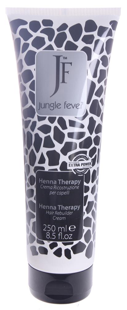 JUNGLE FEVER Крем восстанавливающий / Hair Rebuilder Cream HENNA THERAPY 250млКремы<br>Содержит экстракт лавсонии, который, взаимодействуя с кератином волос, буквально возвращает волосы к жизни. Это идеальное средство для предотвращения появления секущихся кончиков и сохранения насыщенного цвета. Эфирные масла и дубильные вещества лавсонии (Lavsonia inermis - Хна) укрепляют и оздоравливают волосяной стержень и фолликулы, что препятствует выпадению волос. Содержащийся в экстракте финика пальчатого (Phoenix Dactylifera) танин поддерживает упругость кожи; благодаря высокому содержанию углеводов экстракт эффективно увлажняет её, а комплекс активных веществ оказывает антисептическое и регенеративное воздействие, активизируя естественные восстановительные функции кожи. При уходе за сухими, поврежденными, окрашенными волосами масло муру-муру (Astrocaryum Murumuru) показывает блестящие результаты &amp;ndash; даже жесткие и непослушные волосы при регулярном использовании этого масла становятся послушными, мягкими, легко укладываются и держат прическу, приобретают интенсивный здоровый блеск. Активные ингредиенты: содержит экстракты лавсонии, финика пальчатого и масло муру-муру Способ применения: нанести 10-20 мл. крема на влажные волосы равномерно по всей длине от концов к корням, выдержать 5-7 мин., затем тщательно смыть теплой водой до полного удаления маски и приступить к укладке.<br><br>Вид средства для волос: Восстанавливающий