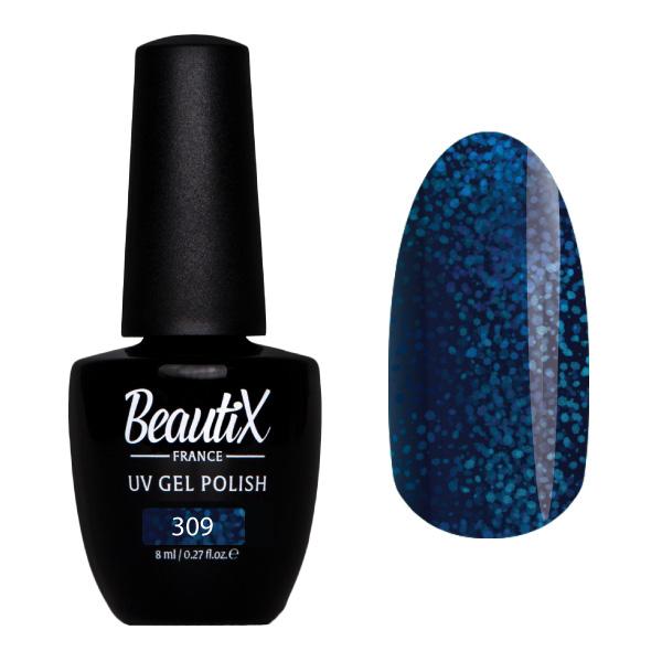 Купить BEAUTIX 309 гель-лак для ногтей 8 мл, Синие