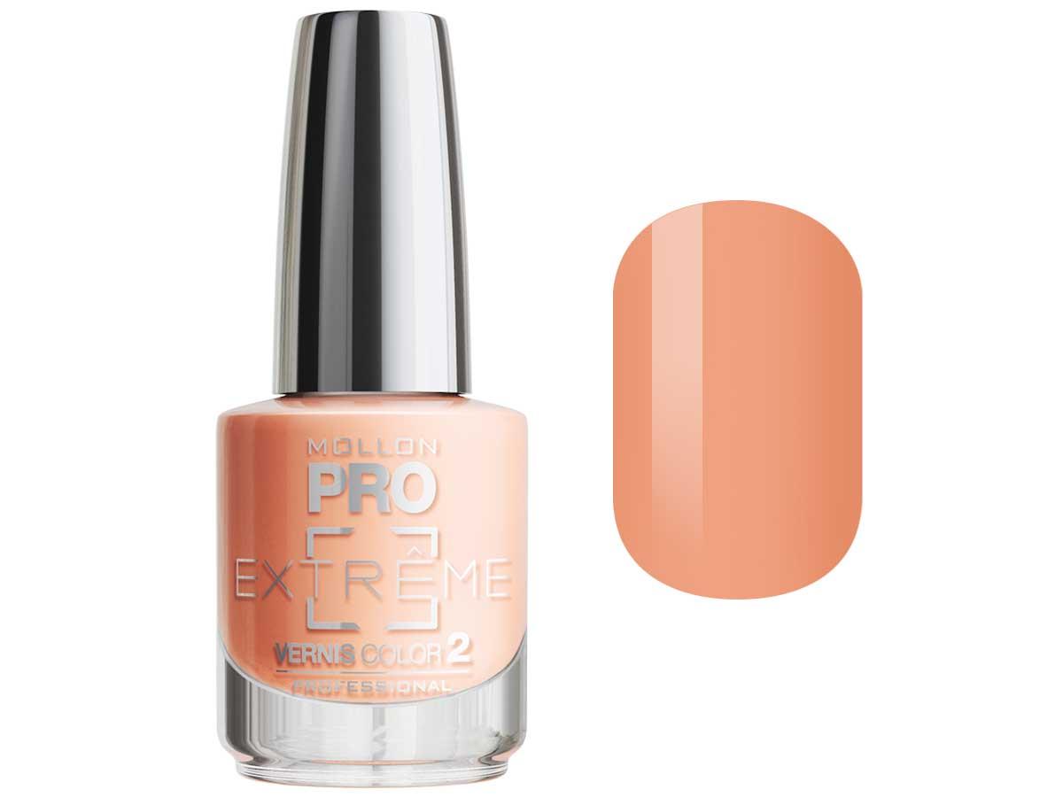 MOLLON PRO Покрытие для ногтей цветное / Extreme Vernis Color  14 10млЛаки<br>Mollon PRO EXTREME 3 STEPS VERNIS   это инновационная, трехфазная система для стилизации ногтей. Благодаря формуле, обогащенной полимерами, продукты высыхают при естественном освещении, что позволяет сохранить эффект супер блеска на ногтях до 10 дней. Продукты наносятся как классический лак для ногтей, смываются жидкостью для снятия лака с ацетоном без компресса. EXTREME VERNIS COLOR COAT 2 - основной цвет очень гибкий, быстро сохнет и дает интенсивный цвет уже после первого цветного слоя. Способ нанесения: - Сделайте маникюр и обезжирьте ногтевую пластину. - Нанесите базу Mollon PRO Extreme Base Smooth Coat -1, дайте просохнуть 1 минуту. - Нанесите два слоя цветного лака Mollon PRO Extreme -2, интервал между слоями 2 минуты. - Покройте сверху закрепителем Mollon PRO Extreme Gloss Top Coat -3. - Оставьте на 10 минут для высыхания. Для снятия покрытия используйте жидкость для снятия лака.<br><br>Цвет: Желтые<br>Класс косметики: Профессиональная<br>Виды лака: Глянцевые