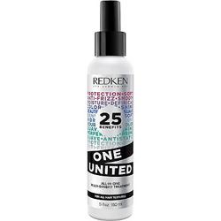 REDKEN Спрей мультифункциональный с 25 полезными свойствами / Уан Юнайтед Эликсир 150млСпреи<br>25 полезных свойтв:&amp;nbsp; Легкий многофункциональный спрей-уход воздействующий на волосы по всей длине, восстанавливая, увлажняя и придавая блеск волосам.&amp;nbsp; Спрей защищает волосы от термического воздействия при использовании термощипцов.&amp;nbsp; Обеспечивает легкий уход&amp;nbsp; Усиливает действие других несмываемых процедур&amp;nbsp; Смягчает текстуру укладки волос&amp;nbsp; Питает.&amp;nbsp; Улучшает управляемость.&amp;nbsp; Помогает даже пористым волосам.&amp;nbsp; Уменьшает сухость.&amp;nbsp; Облегчает расчесывание.&amp;nbsp; Помогает укрепить корни волос.&amp;nbsp; Подготавливает волосы для укладки.&amp;nbsp; Помогает предотвратить повреждение волос при расчесывании.&amp;nbsp; Безопасен для окрашенных волос.&amp;nbsp; Помогает предотвращать тепловое повреждение.&amp;nbsp; Помогает предотвратить секущиеся концы.&amp;nbsp; Увлажняет кутикулу волос.&amp;nbsp; Безопасный для волос с окрашиванием.&amp;nbsp; Помогает защитить против внешних воздействий.&amp;nbsp; Придает нежность и шелковистость.&amp;nbsp; Придает гладкость. Придает блеск.&amp;nbsp; Помогает контролировать локон.&amp;nbsp; Анти-статическое действие.&amp;nbsp; Позволяет быстрее сушить волосы.<br><br>Объем: 150 мл<br>Назначение: Секущиеся кончики