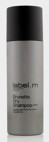 LABEL M Сухой шампунь для брюнеток label.m / 200млШампуни<br>Легкий микроспрей абсорбирует естественные загрязнения и остатки укладочных средств с сухих волос, позволяя освежить прическу, не прибегая к мытью головы. Сухой Шампунь для Брюнеток создает матовую текстуру с пудровым эффектом. Освежает и обновляет укладку. Рисовый Крахмал абсорбирует натуральные масла, естественные загрязнения и остатки укладочных средств; Придаёт жизнь и объём тонким волосам; Используется для создания матовых текстур, для мягких бархатных укладок; Два разных шампуня для светлых и тёмных волос. Не содержит сульфаты, парабены и хлорид натрия. Способ применения: хорошо встряхнуть, держать вертикально на расстоянии примерно 10-15 см от сухих волос. Нанести на корни и прочесать для удаления излишков жира. Следить, чтобы спрей не попадал в глаза и на одежду.<br><br>Тип: сухой шампунь<br>Цвет: Бежевый и коричневый<br>Объем: 200 мл
