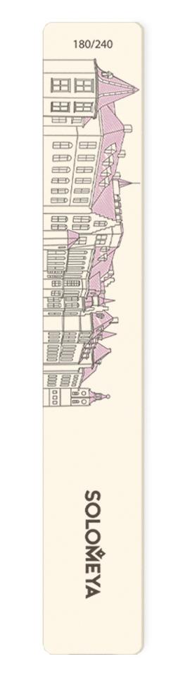 SOLOMEYA Пилка для натуральных и искусственных ногтей 180/240 Мюнхен-домики / Munich Nail File kodi пилка для натуральных ногтей 180 240