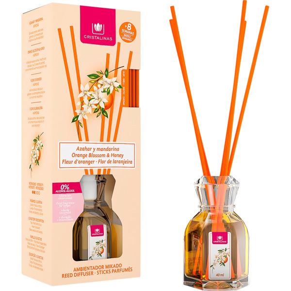 CRISTALINAS Диффузор ароматический Цветущий апельсин и мандарин / Mikado 40 мл
