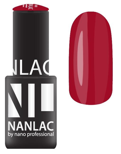 NANO PROFESSIONAL 2154 гель-лак для ногтей, вишневый флауш / NANLAC 6 мл
