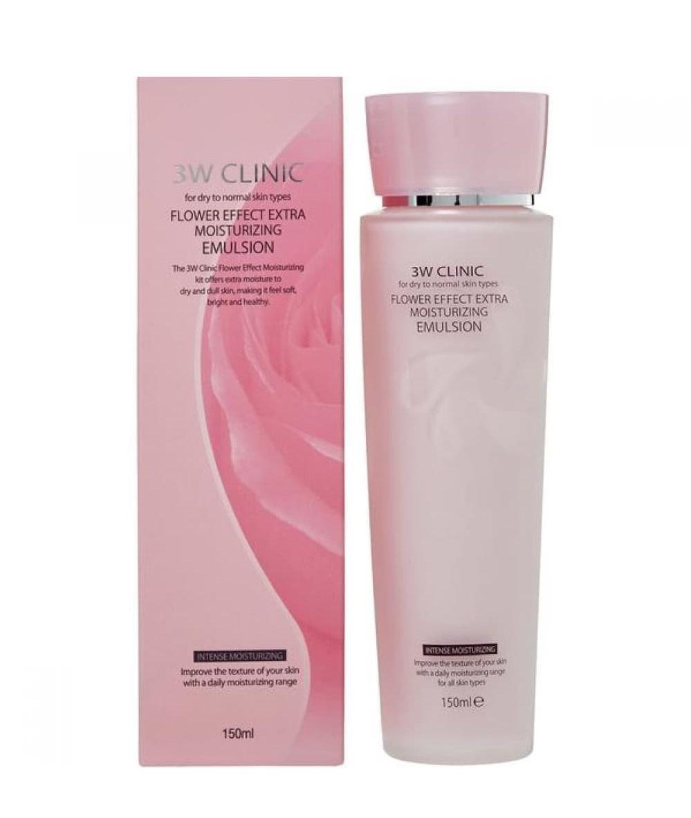 Купить 3W CLINIC Эмульсия экстра-увлажнение для лица / Flower Effect 150 мл