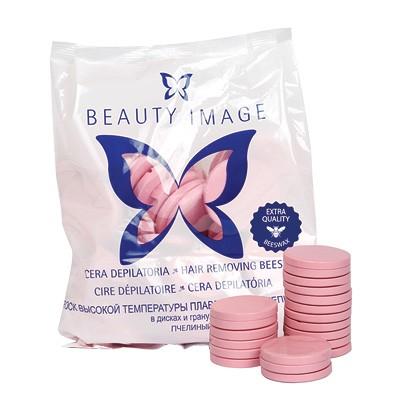 BEAUTY IMAGE Воск пчелиный в дисках Экстра Розовый 1кгВоски<br>Воск с розовым маслом. Подходит для всех типов кожи, идеален для жестких волос.<br>