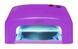 RuNail Прибор ультрафиолетового излучения 36 Вт GL-515, фиолетовый runail прибор led uv излучения 24вт светло розовый