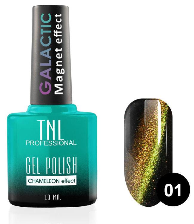 Купить TNL PROFESSIONAL 01 гель-лак для ногтей Кошачий глаз, Звездная пыль / Galactic 10 мл