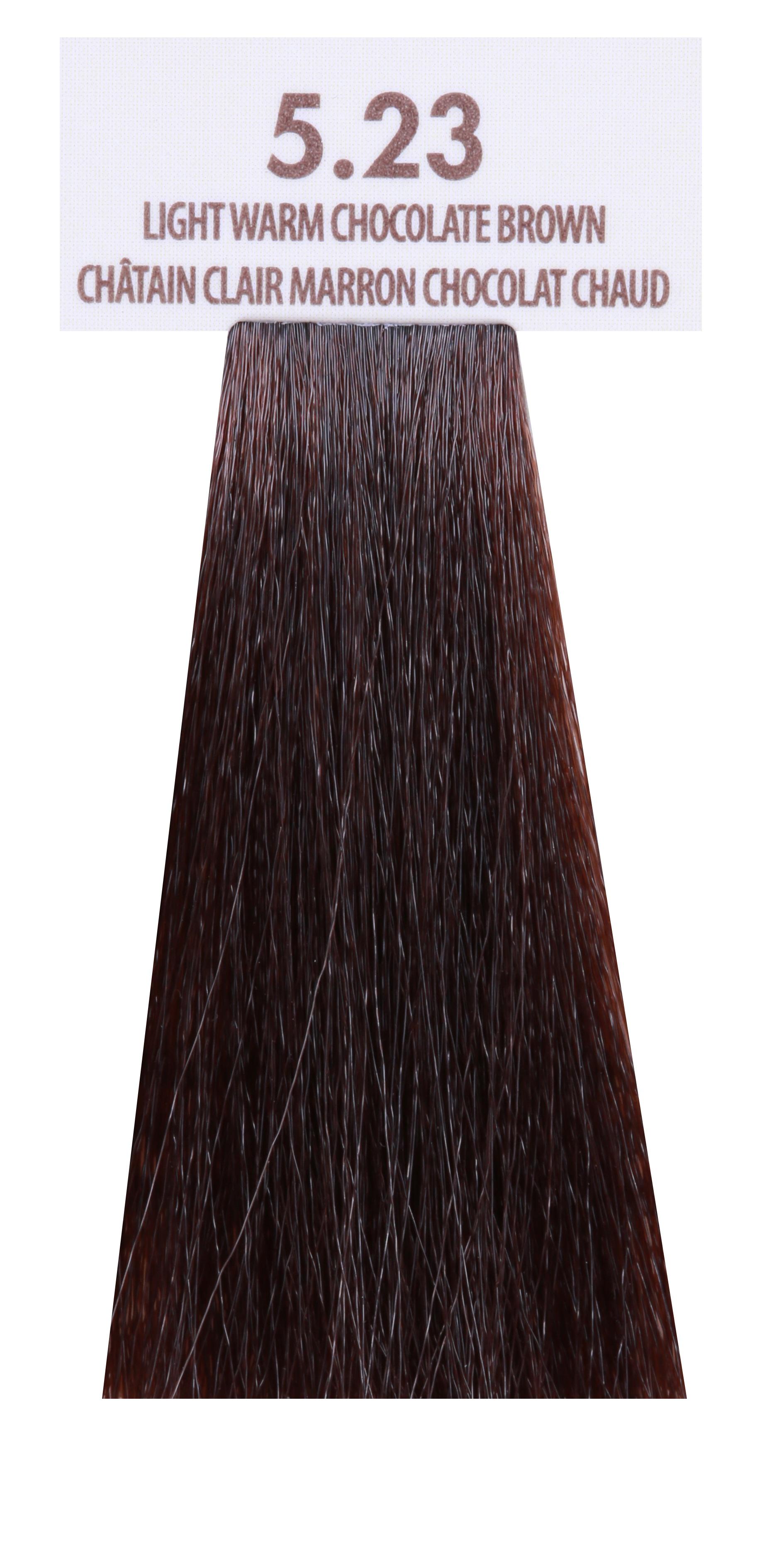 MACADAMIA NATURAL OIL 5.23 краска для волос, светлый теплый шоколадный каштановый / MACADAMIA COLORS 100 мл