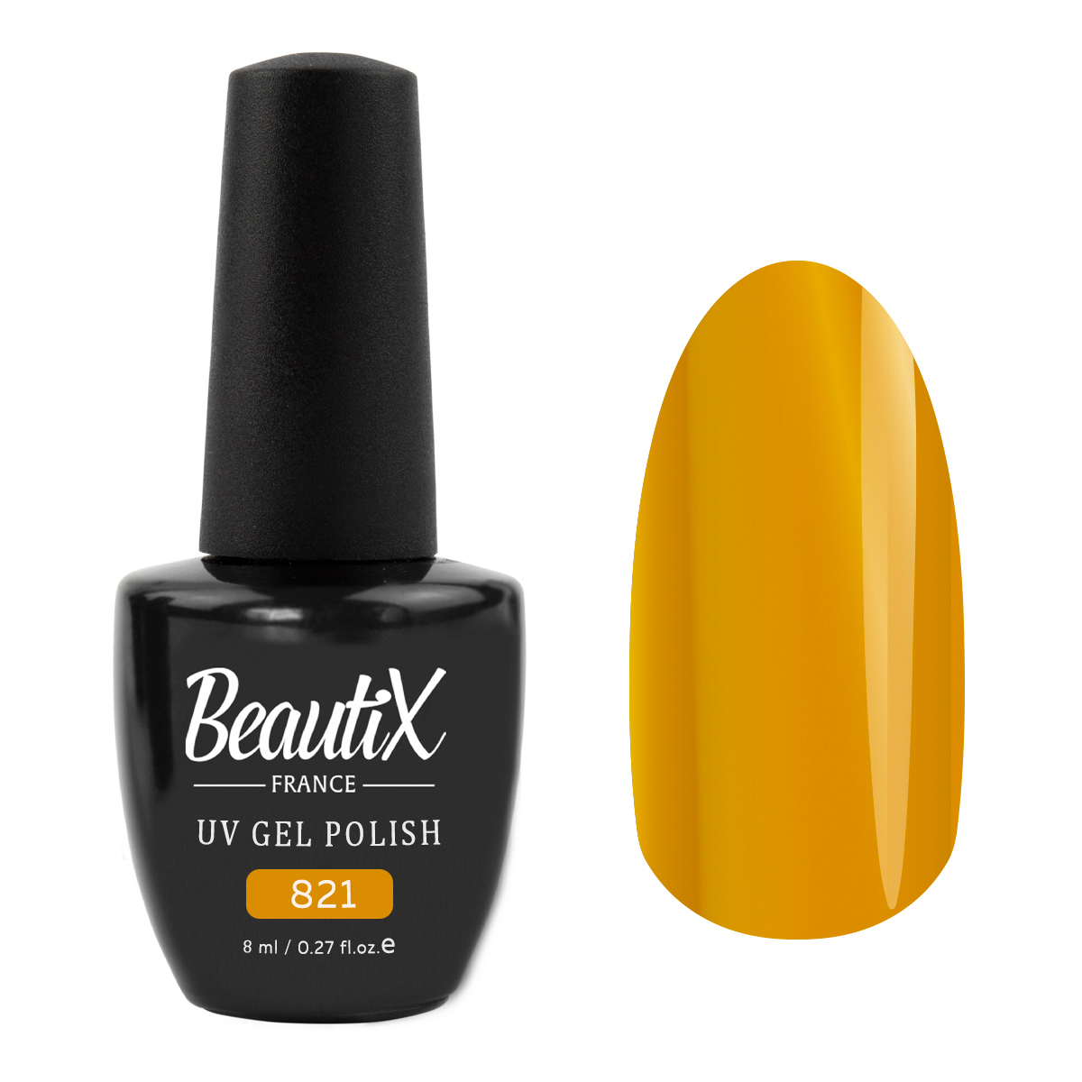 Купить BEAUTIX 821 гель-лак для ногтей 8 мл, Желтые