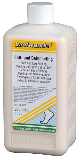 LAUFWUNDER Крем-пилинг для ног с экстрактом Алоэ Вера 500млСкрабы<br>Пилинг с экстрактом Алоэ Вера бережно отшелушивает ороговевшие частички кожи и является идеальной основой для последующего ухода за ногами. Способствует быстрому процессу регенерации клеток и предотвращает возникновение мозолей и трещин. Состав. Содержит экстракты алоэ барбадосского, гамамелиса, пинии, арники горной, горечавки желтой, зверобоя продырявленного, можжевельника обыкновенного. Применение. При регулярном применении кожа становится гладкой и увлажненной.<br><br>Тип: Крем-пилинг<br>Объем: 500