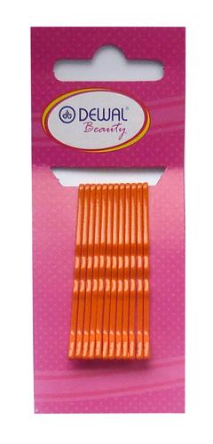 DEWAL BEAUTY Невидимки оранжевые, волна 50 мм, 12 шт/уп