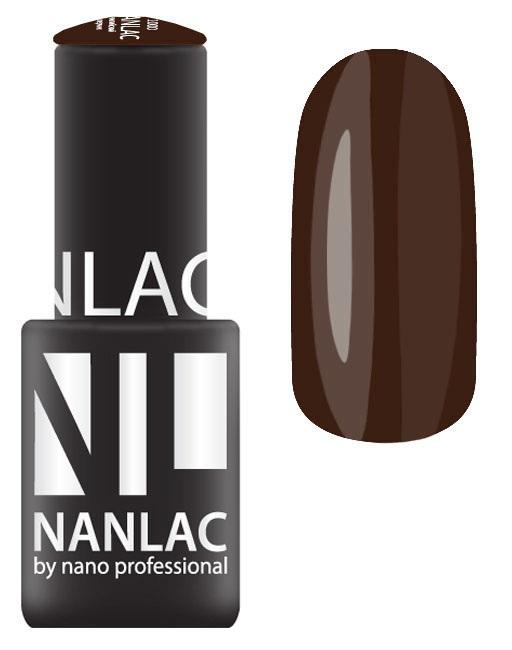 Купить NANO PROFESSIONAL 2183 гель-лак для ногтей, black brown / NANLAC 6 мл, Коричневые