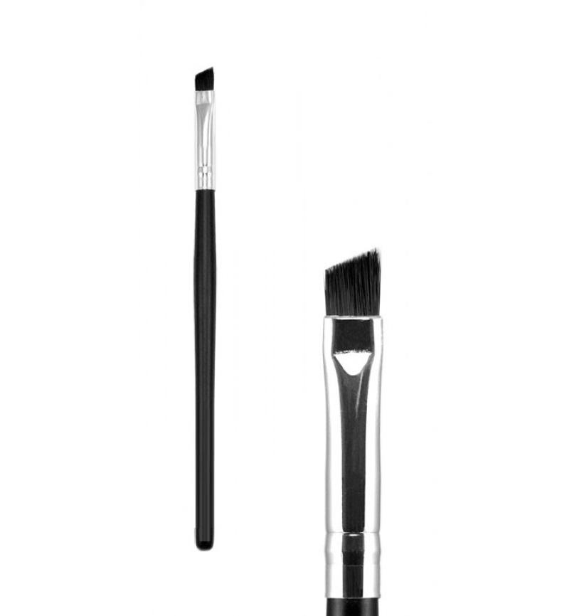 Кисть жесткая для окрашивания бровей и ресниц 15 см, черная 1 шт