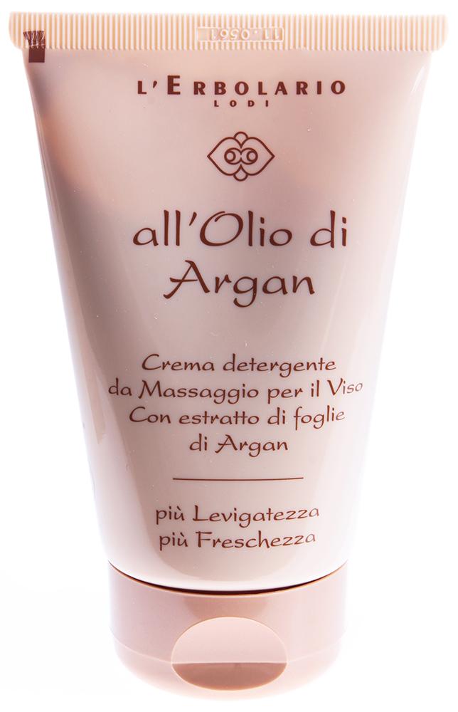 LERBOLARIO Крем моющий для лица Масло Аргании 125млКремы<br>Моющий крем для лица &amp;laquo;Масло Аргании&amp;raquo; нормализует биологические процессы, протекающие в клетках кожи. При применении этого крема кожа становится мягкой и гладкой, восстанавливается ее упругость. Крем обладает питательным и защитным действием. Он имеет плотную текстуру и легко ложится на кожу. Это средство оказывает не только питательное и восстановительное действие, но и очищает кожу от всех загрязнений, накопившихся на ее поверхности за день. Моющий крем помогает коже дышать. Он также идеально подходит для применения в качестве средства для снятия макияжа.  Активные ингредиенты: Масло аргании колючей, экстракт из листьев аргании, масло кокоса.  Способ применения: Нанесите на сухую кожу лица, шеи и области декольте немного моющего крема. Смочите кончики пальцев водой и помассируйте несколько секунд кожу. Снимите крем при помощи ватного диска, смоченного водой, затем ополосните лицо.<br><br>Вид средства для лица: Защитный<br>Возраст применения: После 25