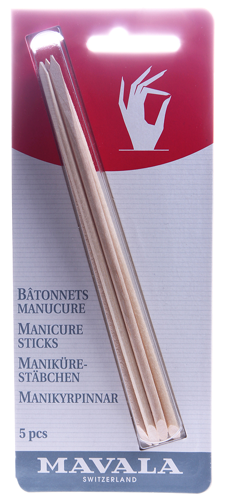 MAVALA Палочки деревянные для маникюра, на блистере / Manicure Sticks 5 шт