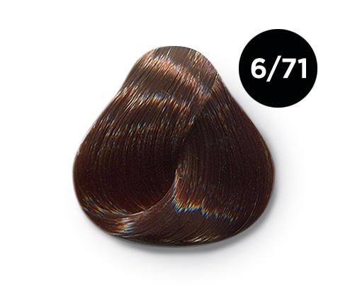 OLLIN PROFESSIONAL 6/71 краска для волос, темно-русый коричнево-пепельный / OLLIN COLOR 60 мл