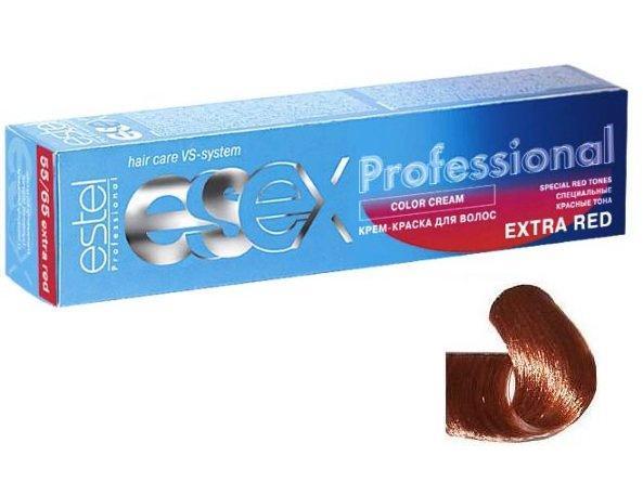 ESTEL PROFESSIONAL 77/43 краска д/волос / ESSEX Extra Red 60млКраски<br>Оттенок: Эффектная румба. Крем-краска ESSEX Extra Red придает волосам ультраинтенсивный, насыщенный цвет. Эксклюзивная формула, разработанная на основе Молекулы Red5, позволяет достичь на 25% более мощный яркий цвет, чем при окрашивании оттенками основной палитры. Благодаря небольшой молекулярной массе, Молекула Red5 глубоко проникает в корковый слой волоса, за счет чего увеличивается стойкость цвета. Сбалансированная формула, содержащая силоксаны, придает волосам шелковистый блеск. Активные ингредиенты: Силоксаны,  Молекула Red5.  Способ применения: Смешивается с оксигентами ESSEX 6%, 9% в соотношении 1:1. Время воздействия 40-45 минут.<br><br>Цвет: Красный и фиолетовый<br>Объем: 60