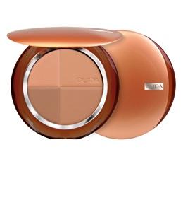 PUPA Пудра компактная бронзирующая 01, розовая гармония с SPF15, 14гр