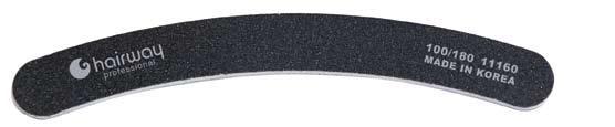 HAIRWAY Пилка бумеранг черная 100/180Пилки для ногтей<br>Пилки для ногтей Hairway выполнены из высококачественного износостойкого материала, различной степени жесткости. Позволяют придать форму и блеск натуральным и искусственным ногтям. Пилки удобны в работе, имеют большой срок службы и легко дезинфицируются.<br>
