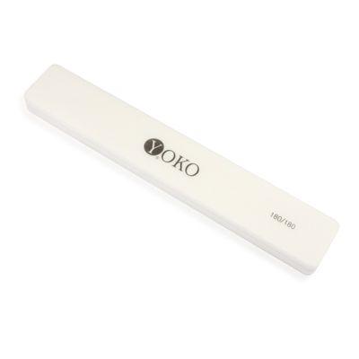 YOKO Пилка-блок белая 180/180***Пилки для ногтей<br>Пилка-блок 180/180 цвет: белый<br>