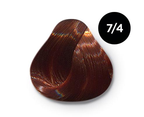 Купить OLLIN PROFESSIONAL 7/4 краска для волос, русый медный / OLLIN COLOR 100 мл